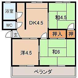 玉置マンション[2階]の間取り