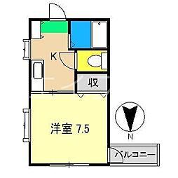 マンションアーバン[2階]の間取り