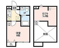 神奈川県横浜市青葉区しらとり台の賃貸アパートの間取り