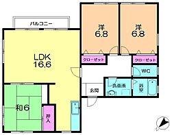 [テラスハウス] 奈良県奈良市朱雀1丁目 の賃貸【奈良県 / 奈良市】の間取り