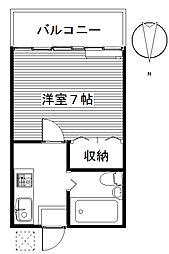 三樹ハイツ上中居[2階]の間取り