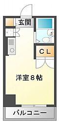 東明マンション江坂[7階]の間取り