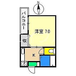 マンションアーバン[3階]の間取り