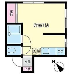 ハイツ飯島(ハイツイイジマ)[1階]の間取り
