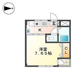 ラ・ヴィータ志賀本通[1階]の間取り