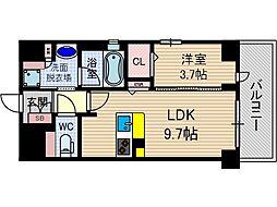 ぺスカード別院[5階]の間取り