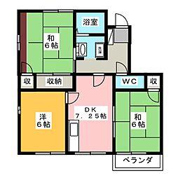 ロジュマンドフォーレA棟[2階]の間取り