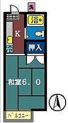 プチコーポ藤崎[201号室]の間取り