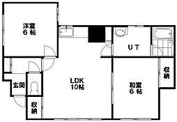 南32条借家A[2F号室]の間取り