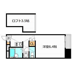 大阪府大阪市鶴見区鶴見2の賃貸アパートの間取り