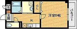 京都府京都市伏見区竹田藁屋町の賃貸マンションの間取り