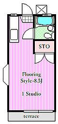 ロゼ5[1階]の間取り