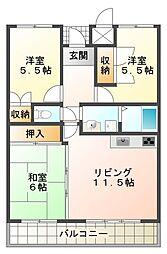 ガーデンハイツ桃山台弐番館[1階]の間取り