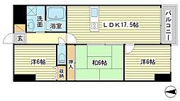 シャトー三和青山[2階]の間取り