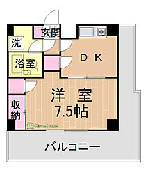 神奈川県相模原市緑区橋本3の賃貸マンションの間取り