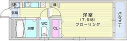 JR東北本線 岩沼駅 徒歩14分の賃貸マンション 3階1Kの間取り