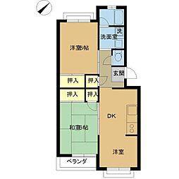 笠川83番館[103号室]の間取り