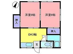 長谷川荘[2階]の間取り