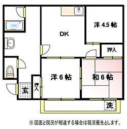 第一山崎ハイツ[3階]の間取り
