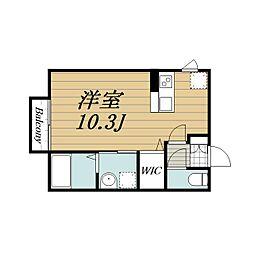 千葉県千葉市中央区汐見丘町の賃貸アパートの間取り