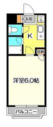 アザレア恋ヶ窪[2階]の間取り