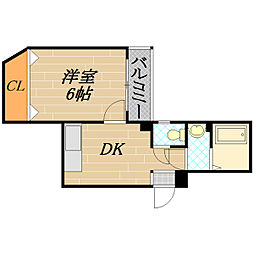 エトワルKII[1階]の間取り