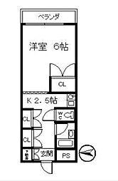 松原水道会館[3階]の間取り