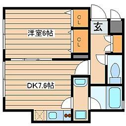 マイスターハウス川崎(6/20頃、退室予定)[1階]の間取り