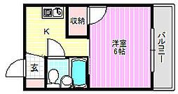 OTYマンション[4階]の間取り