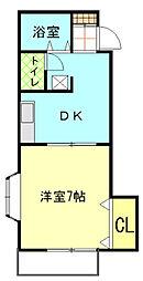 M メゾンドール[2階]の間取り