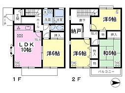 [テラスハウス] 東京都日野市神明3丁目 の賃貸【/】の間取り