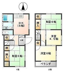 [一戸建] 東京都足立区花畑7丁目 の賃貸【/】の間取り