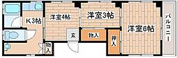 兵庫県神戸市中央区旗塚通5丁目の賃貸マンションの間取り