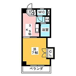 第3大洋ビル[4階]の間取り