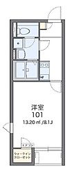 レオネクスト子中サイド 2階1Kの間取り