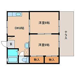 静岡県静岡市清水区宮下町の賃貸アパートの間取り