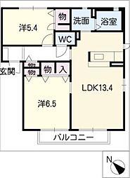 MastTown松阪 E棟[2階]の間取り