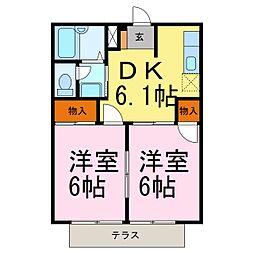 ジュネス早川[1階]の間取り