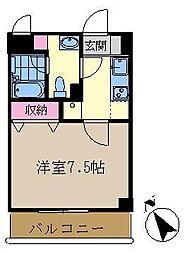 コートエスト[4階]の間取り