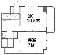 エクセレントハウス豊平37[105号室]の間取り