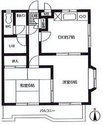 アメニティヴィラ[3階]の間取り