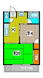 コーポ長島[102号室]の間取り