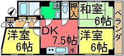 東京都江戸川区中央4丁目の賃貸マンションの間取り