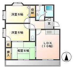 サクセス[4階]の間取り