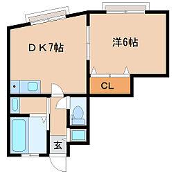 兵庫県尼崎市蓬川町の賃貸マンションの間取り