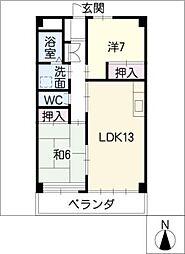 パークサイドマンション奥野[5階]の間取り