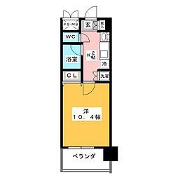 鶴舞パークヒルズ[3階]の間取り