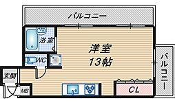 川端マンション[307号室]の間取り