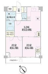 中新井サンライトマンション[104号室]の間取り