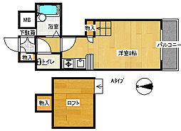 コスモレジデンス北加賀屋II[1階]の間取り